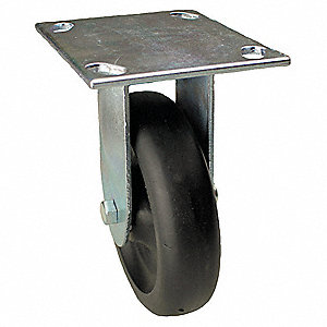 "4"" Light-Medium Duty Rigid Plate Caster, 375 lb. Load Rating"