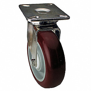 "6"" Light-Medium Duty Swivel Plate Caster, 450 lb. Load Rating"
