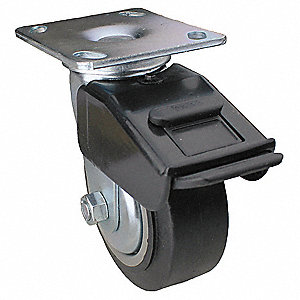 "5"" Plate Caster, 325 lb. Load Rating"