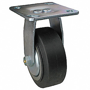 "4"" Light-Medium Duty Rigid Plate Caster, 300 lb. Load Rating"
