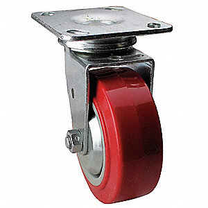 "5"" Light-Medium Duty Swivel Plate Caster, 650 lb. Load Rating"