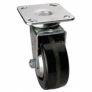 "4"" Light-Medium Duty  Swivel Plate Caster, 600 lb. Load Rating"