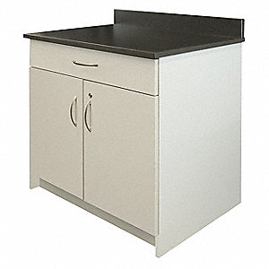 Breakroom Base Cabinet-2 Door,Gray