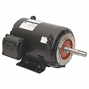 1-1/2 HP Close-Coupled Pump Motor,3-Phase,1755 Nameplate RPM,208-230/460 Voltage,143/5JP