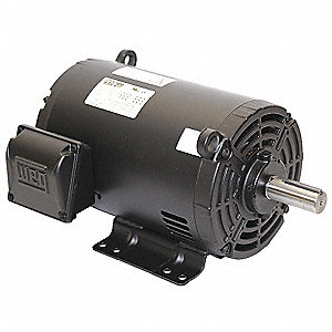 3 HP General Purpose Motor,3-Phase,3480 Nameplate RPM,Voltage 575,Frame 143/5T