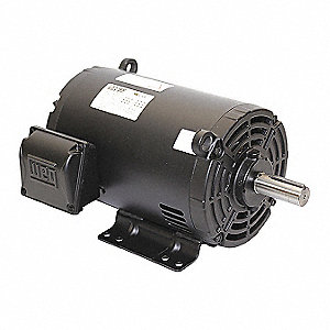 5 HP General Purpose Motor,3-Phase,1760 Nameplate RPM,Voltage 575,Frame 182/4T