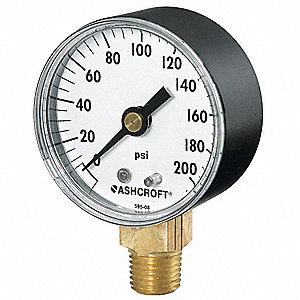 "2"" General Purpose Vacuum Gauge, 30 to 0 In. Hg"