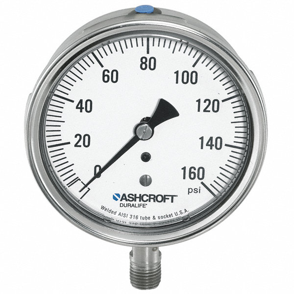 ashcroft 3 2 u0026quot  general purpose pressure gauge  0 to 30