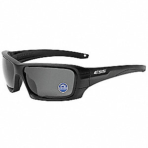 Rollbar  Black Frame/Polarized Mirrored Gray Lenses Scratch-Resistant Polarized Safety Sunglasses, G