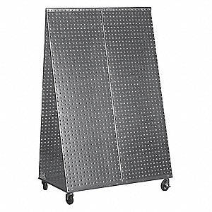 Steel A-Frame Pegboard Truck Kit, 200 lb. Load Capacity, Galvanized Finish, Silver
