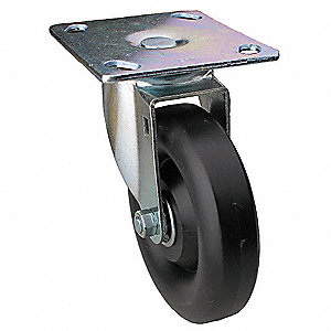 "4"" Light-Medium Duty Swivel Plate Caster, 300 lb. Load Rating"