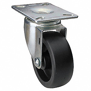 "6"" Light-Medium Duty Swivel Plate Caster, 400 lb. Load Rating"