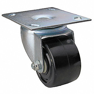 "3"" Light-Medium Duty  Swivel Plate Caster, 500 lb. Load Rating"