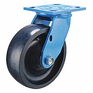 "5"" Light-Medium Duty Swivel Plate Caster, 900 lb. Load Rating"