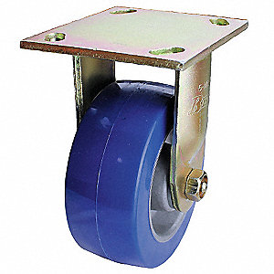 "6"" Medium-Duty  Rigid Plate Caster, 1200 lb. Load Rating"