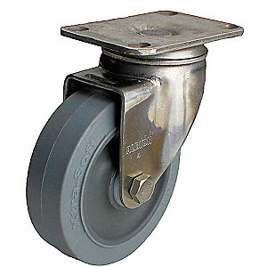 Swivel Plate Cstr,250 lb,Stainless Steel
