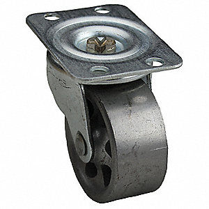"2"" Light-Duty Swivel Plate Caster, 150 lb. Load Rating"