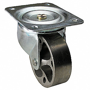 "4"" Light-Medium Duty Swivel Plate Caster, 450 lb. Load Rating"