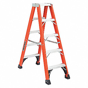 5 ft. 375 lb. Load Capacity Fiberglass Twin Stepladder