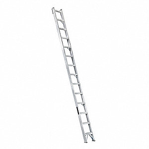 louisville 14 ft aluminum straight ladder 300 lb load capacity 15 11 16 overall width rung. Black Bedroom Furniture Sets. Home Design Ideas
