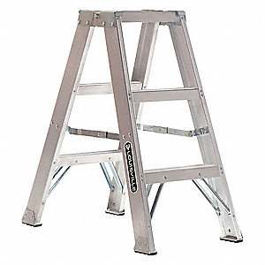 Surprising 3 Ft 300 Lb Load Capacity Aluminum Twin Stepladder Pabps2019 Chair Design Images Pabps2019Com