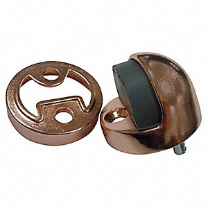 Dome Door Stop, Floor-Mount, Satin Bronze