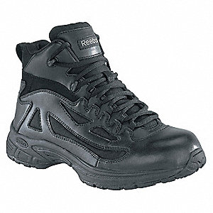 "4""H Men's Tactical Boots, Plain Toe Type, Waterproof Leather/Ballistic Nylon Upper Material, Black,"