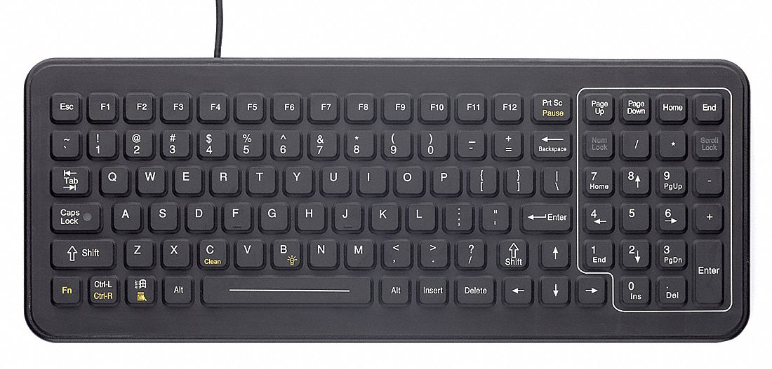 Corded Keyboard, Black, USB