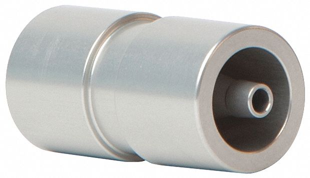 Three-In-One Tubing Adapter, Flowmeter Noise Muffler, Aluminum, 4 in L x 4 in W x 2 in H