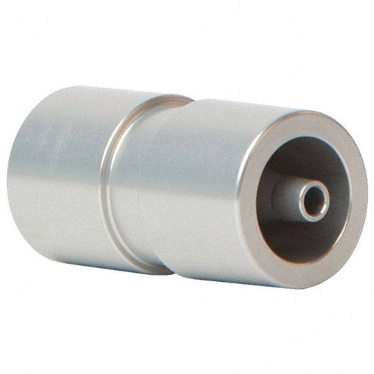 Two-In-One Tubing Adapter, Flowmeter Noise Muffler, Aluminum, 3 in L x 4 in W x 1 in H