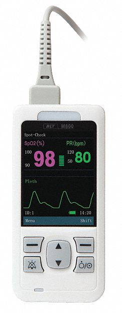 Pulse Oximeter with Auto Rotating Display,  Fingertip,  Display Type Digital LCD,  Measures SpO2
