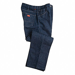 "Denim Pants, Amtex®, Fits Waist Size: 34"", 32"" Inseam, 20.0 cal./cm2 ATPV Rating"