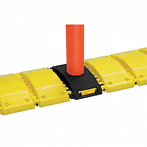 Portable Speed Bump,120In,Yellow,Plastic