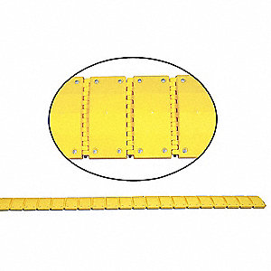 Portable Speed Bump,240In,Yellow,Plastic