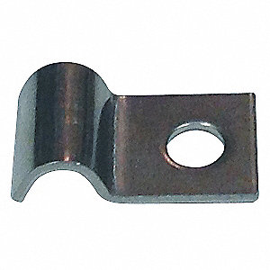 "1 Line Tube Clamp, 1/4"" Tube Size, Stainless Steel"