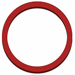 "I-Line Gasket, 2-13/32"" Inside Dia., 2-49/64"" Outside Dia., Silicone X-Rayable/Metal Detectable, 2-1"