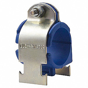 "High Temp Cushioned Clamp, 7/8"" Tube Size, Stainless Steel 316 Clamp, High Temp TPE Cushion"