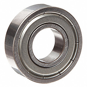 "Radial Ball Bearing, Shielded Bearing Type, 0.3750"" Bore Dia., 0.8750"" Outside Dia."