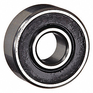 "Radial Ball Bearing, Ball Bearing Type, 1.0000"" Bore Dia., 2.0000"" Outside Dia."