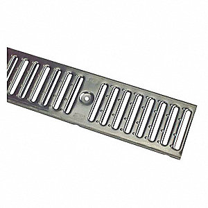 ZURN Stainless Steel Stainless Steel Floor Drain Grate Pipe Dia., Screw Connection - Drains - 33KL74 P6-RPSC - Grainger