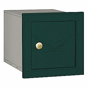 Column Mailbox,Eagle,Powder Coated,Green