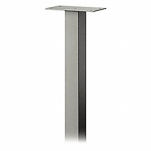 Roadside Standard Pedestal,Nickel,48in H