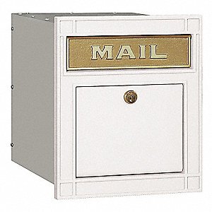 Column Mailbox, Plain Locking, PC, White