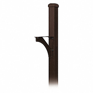 Decorative Mailbox Post,Bronze,4 in.