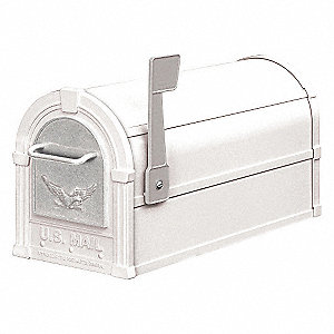 Rural Mailbox, Eagle, White/Silver