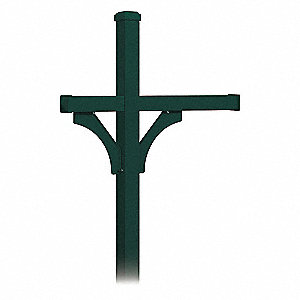 Mailbox Post,Green,81 in. H,In-Ground
