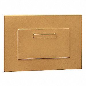 Parcel Drop,Recessed Mounting,Brass