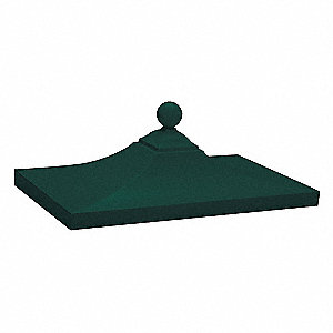 Regency Decorative Top; Features: Green Powder Coated Finish, Die Cast Aluminum