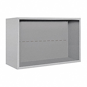 "32-1/4"" x 21-1/8"" Enclosure for Double Column 5 Door Horizontal Mailbox, Gray Powder Coated"
