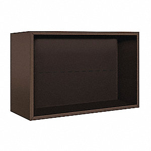 "32-1/4"" x 21-1/8"" Enclosure for Double Column 5 Door Horizontal Mailbox, Bronze Powder Coated"